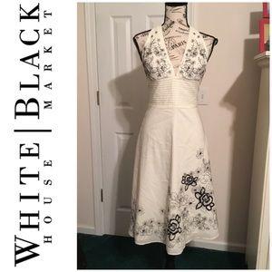 EUC! White House Black Market Halter Dress Size 4
